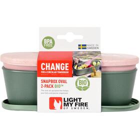 Light My Fire SnapBox Oval BIO 2-pak, grøn/pink